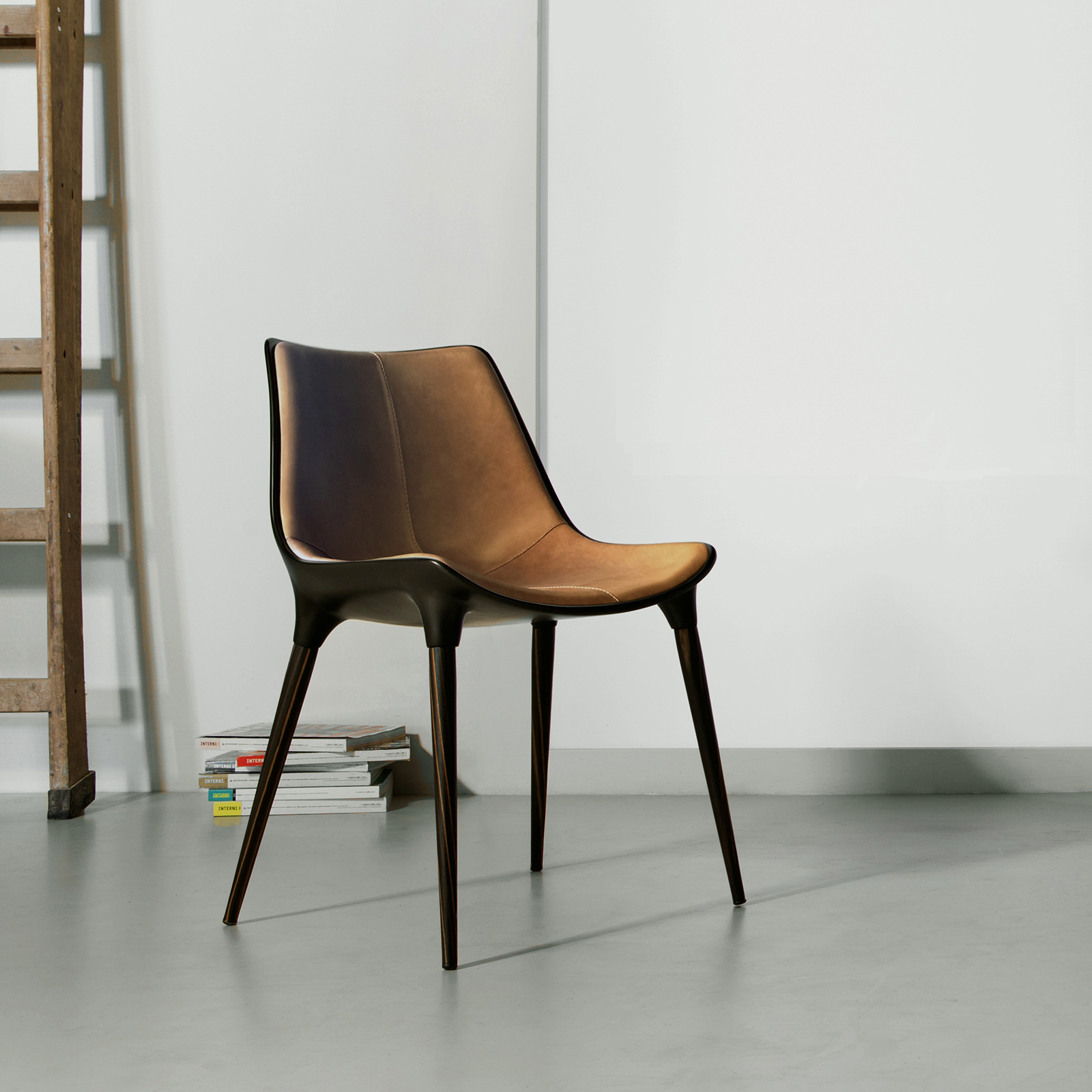 Langham Dining Chair In Leather Kaza Modern Furniture