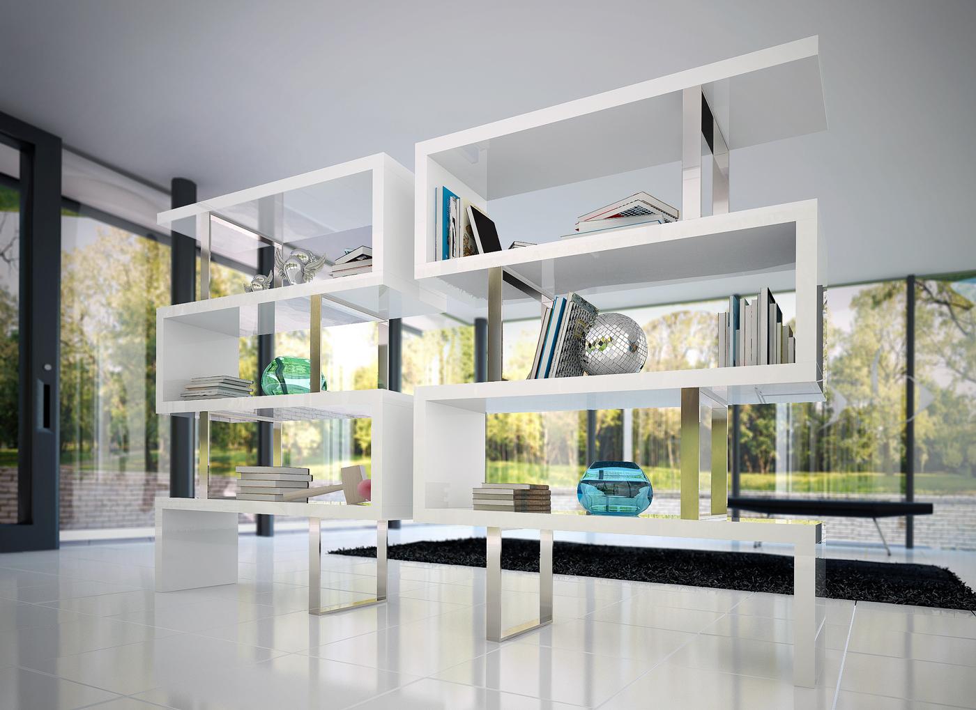 Pearl Bookcase Kaza Modern Furniture